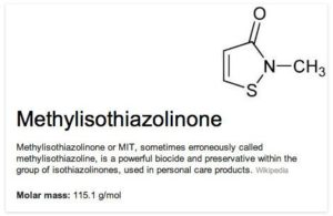 Methylisothiazolinone (метилизотиазолинон) в косметике